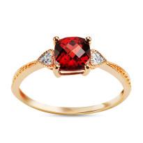 Zdjęcie Złoty pierścionek z diamentami #34