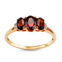 Zdjęcie Złoty pierścionek z diamentami #42