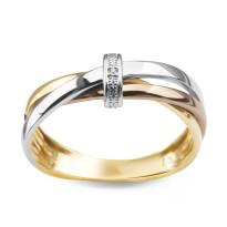 Zdjęcie Złoty pierścionek z diamentami #45
