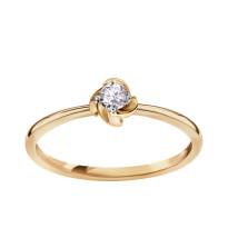 Zdjęcie Złoty pierścionek z diamentami #28