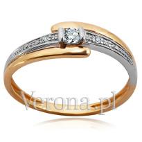 Zdjęcie Złoty pierścionek z diamentami #17