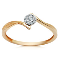 Zdjęcie Złoty pierścionek z diamentami  #40