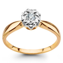 Zdjęcie Złoty pierścionek z diamentami #48