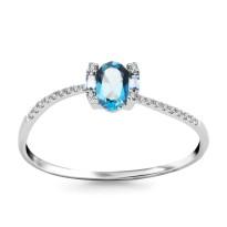 Zdjęcie Złoty pierścionek z diamentami #9