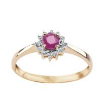 Zdjęcie Złoty pierścionek z diamentami i rubinami #20