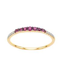 Zdjęcie Złoty pierścionek z diamentami i rubinami #2
