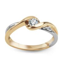 Zdjęcie Złoty pierścionek z diamentem #48