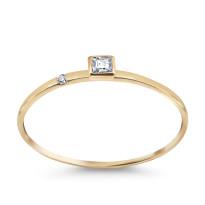 Zdjęcie Złoty pierścionek z diamentem #27
