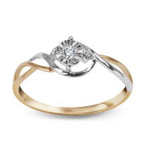 Zdjęcie Złoty pierścionek z diamentem #11