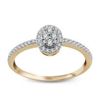 Zdjęcie Złoty pierścionek z diamentem #12
