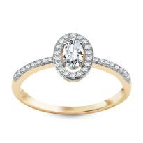 Zdjęcie Złoty pierścionek z diamentami #23