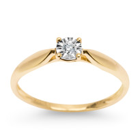 Zdjęcie Złoty pierścionek z diamentem #59