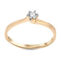 Zdjęcie Złoty pierścionek z diamentem #17