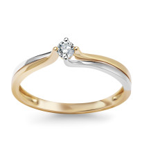 Zdjęcie Złoty pierścionek z diamentem #7