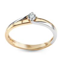 Zdjęcie Złoty pierścionek z diamentem #30