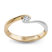 Zdjęcie Złoty pierścionek z diamentem #47