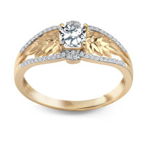 Zdjęcie Złoty pierścionek z diamentem #21