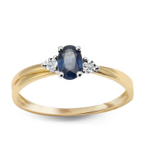 Zdjęcie Złoty pierścionek z diamentem #8