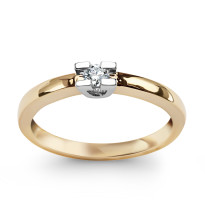 Zdjęcie Złoty pierścionek z diamentem #43