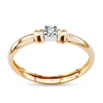 Zdjęcie Złoty pierścionek z diamentem #23