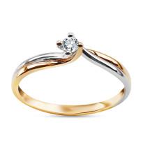 Zdjęcie Złoty pierścionek z diamentem #16