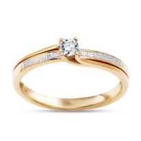 Zdjęcie Złoty pierścionek z diamentem #26