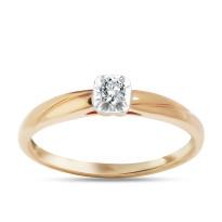 Zdjęcie Złoty pierścionek z diamentem #28