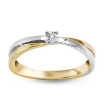 Zdjęcie Złoty pierścionek z diamentem #6