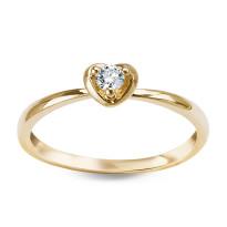 Zdjęcie Złoty pierścionek z diamentem #42