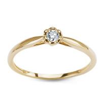 Zdjęcie Złoty pierścionek z diamentem #14