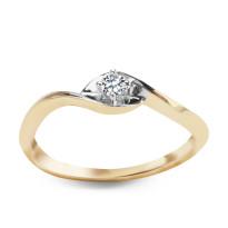 Zdjęcie Złoty pierścionek z diamentem #58