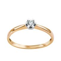 Zdjęcie Złoty pierścionek z diamentem #40