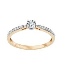 Zdjęcie Złoty pierścionek z diamentem #9