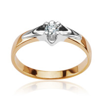 Zdjęcie Złoty pierścionek z diamentem #35
