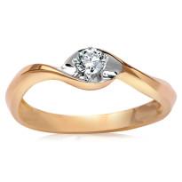 Zdjęcie Złoty pierścionek z diamentem #15