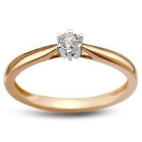 Zdjęcie Złoty pierścionek z diamentem #39