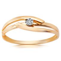 Zdjęcie Złoty pierścionek z diamentem #45