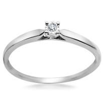 Zdjęcie Złoty pierścionek z diamentem #2