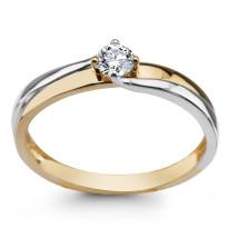 Zdjęcie Złoty pierścionek z diamentem #25