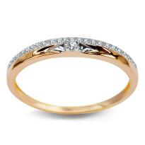 Zdjęcie Złoty pierścionek z diamentem #32