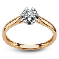 Zdjęcie Złoty pierścionek z diamentem #37