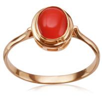 Zdjęcie Złoty pierścionek z koralem #33