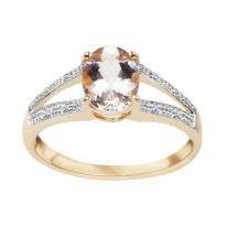 Zdjęcie Złoty pierścionek z morganitu i diamentu #35