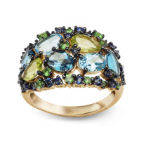 Zdjęcie Złoty pierścionek z topazami #28