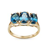 Złoty pierścionek z topazami